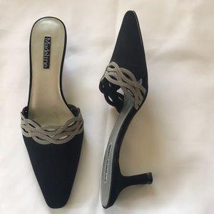Open back kitten heels